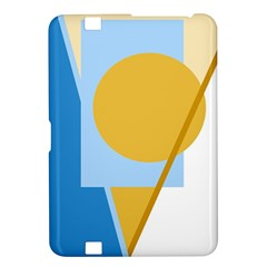 Blue and yellow abstract design Kindle Fire HD 8.9