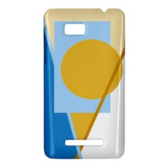 Blue and yellow abstract design HTC One SU T528W Hardshell Case