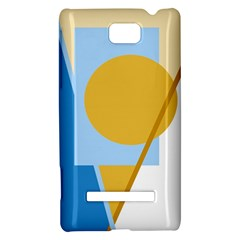 Blue and yellow abstract design HTC 8S Hardshell Case
