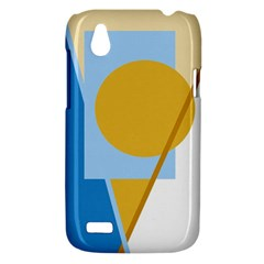 Blue and yellow abstract design HTC Desire V (T328W) Hardshell Case