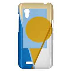 Blue and yellow abstract design HTC Desire VT (T328T) Hardshell Case