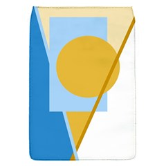 Blue And Yellow Abstract Design Flap Covers (s)