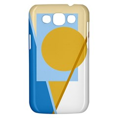 Blue and yellow abstract design Samsung Galaxy Win I8550 Hardshell Case