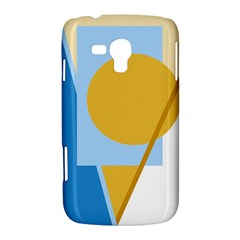 Blue and yellow abstract design Samsung Galaxy Duos I8262 Hardshell Case
