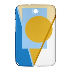 Blue and yellow abstract design Samsung Galaxy Note 8.0 N5100 Hardshell Case