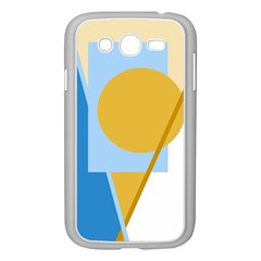 Blue and yellow abstract design Samsung Galaxy Grand DUOS I9082 Case (White)
