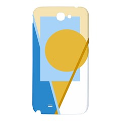 Blue and yellow abstract design Samsung Note 2 N7100 Hardshell Back Case