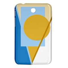 Blue and yellow abstract design Samsung Galaxy Tab 3 (7 ) P3200 Hardshell Case