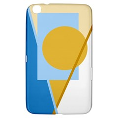Blue and yellow abstract design Samsung Galaxy Tab 3 (8 ) T3100 Hardshell Case