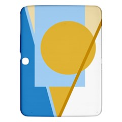 Blue and yellow abstract design Samsung Galaxy Tab 3 (10.1 ) P5200 Hardshell Case