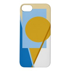 Blue and yellow abstract design Apple iPhone 5S/ SE Hardshell Case