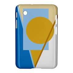Blue and yellow abstract design Samsung Galaxy Tab 2 (7 ) P3100 Hardshell Case