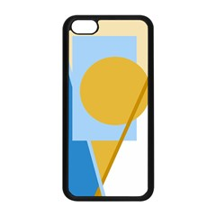 Blue and yellow abstract design Apple iPhone 5C Seamless Case (Black)