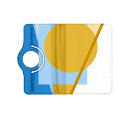 Blue and yellow abstract design Kindle Fire HD (2013) Flip 360 Case
