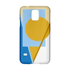 Blue and yellow abstract design Samsung Galaxy S5 Hardshell Case