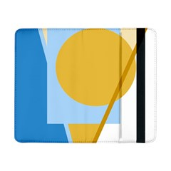 Blue and yellow abstract design Samsung Galaxy Tab Pro 8.4  Flip Case