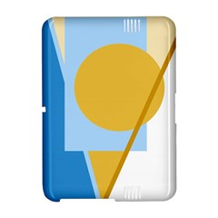 Blue and yellow abstract design Amazon Kindle Fire (2012) Hardshell Case