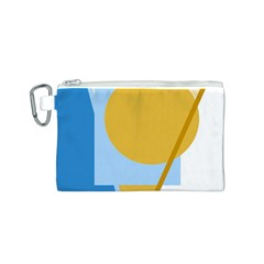 Blue and yellow abstract design Canvas Cosmetic Bag (S)