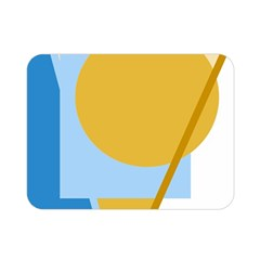 Blue and yellow abstract design Double Sided Flano Blanket (Mini)