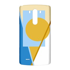 Blue and yellow abstract design LG G3 Back Case