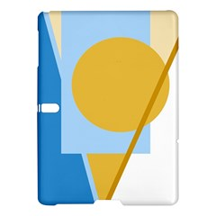 Blue and yellow abstract design Samsung Galaxy Tab S (10.5 ) Hardshell Case