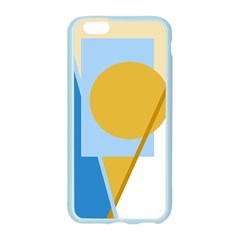 Blue and yellow abstract design Apple Seamless iPhone 6/6S Case (Color)