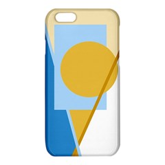 Blue and yellow abstract design iPhone 6/6S TPU Case