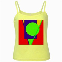 Colorful geometric design Yellow Spaghetti Tank