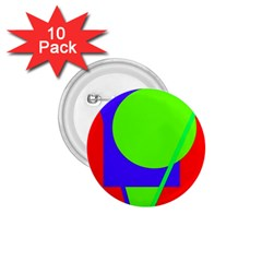 Colorful geometric design 1.75  Buttons (10 pack)