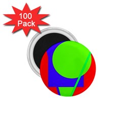 Colorful geometric design 1.75  Magnets (100 pack)