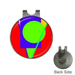 Colorful geometric design Hat Clips with Golf Markers