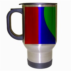 Colorful geometric design Travel Mug (Silver Gray)