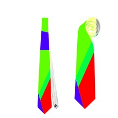 Colorful geometric design Neckties (One Side)