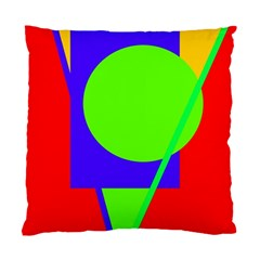 Colorful geometric design Standard Cushion Case (Two Sides)