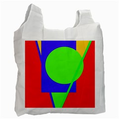 Colorful geometric design Recycle Bag (Two Side)