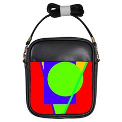Colorful geometric design Girls Sling Bags