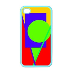Colorful geometric design Apple iPhone 4 Case (Color)