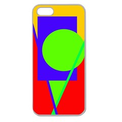 Colorful geometric design Apple Seamless iPhone 5 Case (Clear)