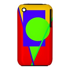 Colorful geometric design Apple iPhone 3G/3GS Hardshell Case (PC+Silicone)