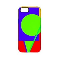Colorful geometric design Apple iPhone 5 Classic Hardshell Case (PC+Silicone)