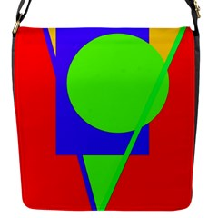 Colorful geometric design Flap Messenger Bag (S)