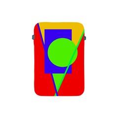 Colorful geometric design Apple iPad Mini Protective Soft Cases