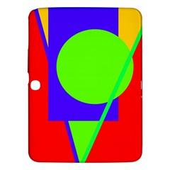 Colorful geometric design Samsung Galaxy Tab 3 (10.1 ) P5200 Hardshell Case