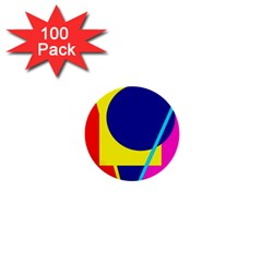 Colorful geometric design 1  Mini Buttons (100 pack)