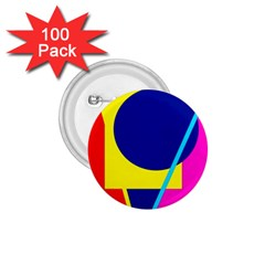 Colorful geometric design 1.75  Buttons (100 pack)