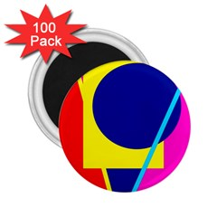 Colorful geometric design 2.25  Magnets (100 pack)