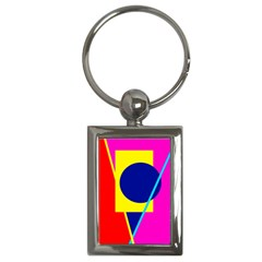 Colorful geometric design Key Chains (Rectangle)
