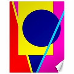 Colorful geometric design Canvas 18  x 24