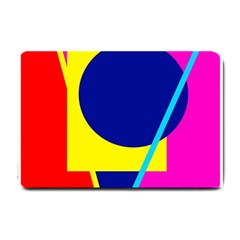 Colorful geometric design Small Doormat