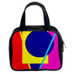Colorful geometric design Classic Handbags (2 Sides)